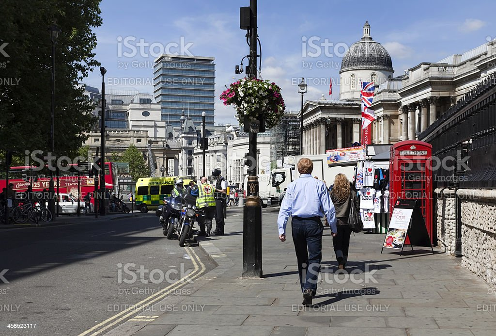 Near Trafalgar Square royalty-free stock photo