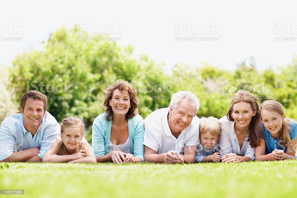 Nearest and dearest all in a row royalty-free stock photo