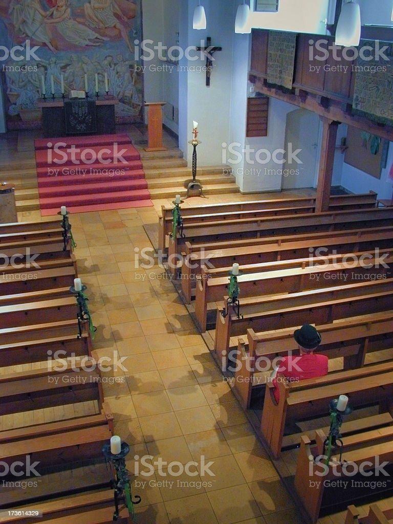 Nearly Empty Church royalty-free stock photo