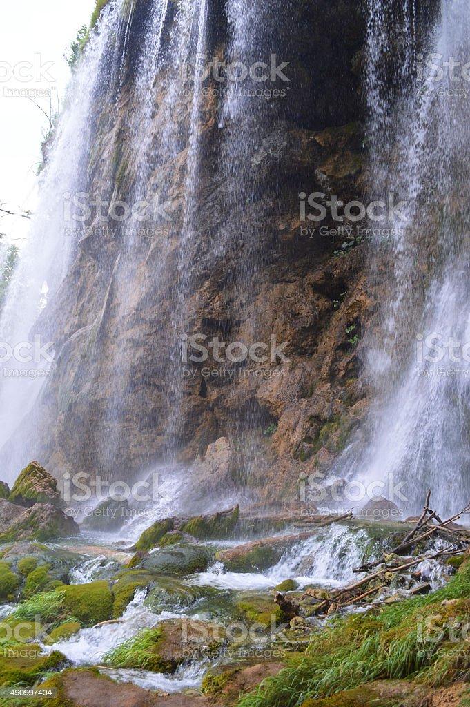 Casi de Plitvice cascada foto de stock libre de derechos