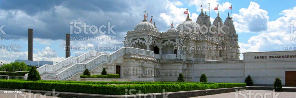 Neasden Temple in London stock photo