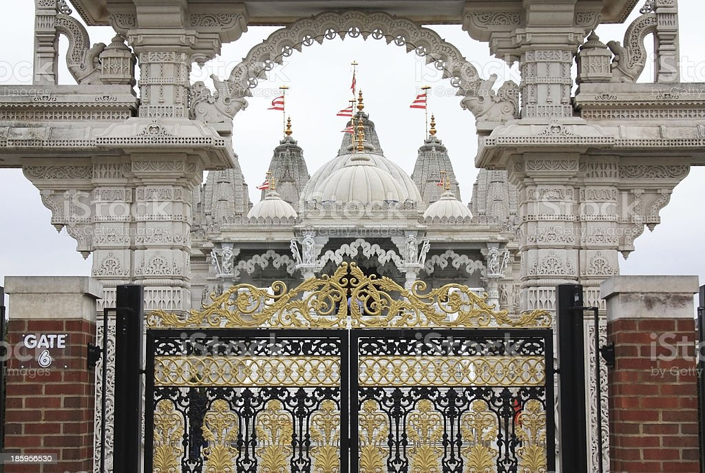 Neasden Temple, London royalty-free stock photo