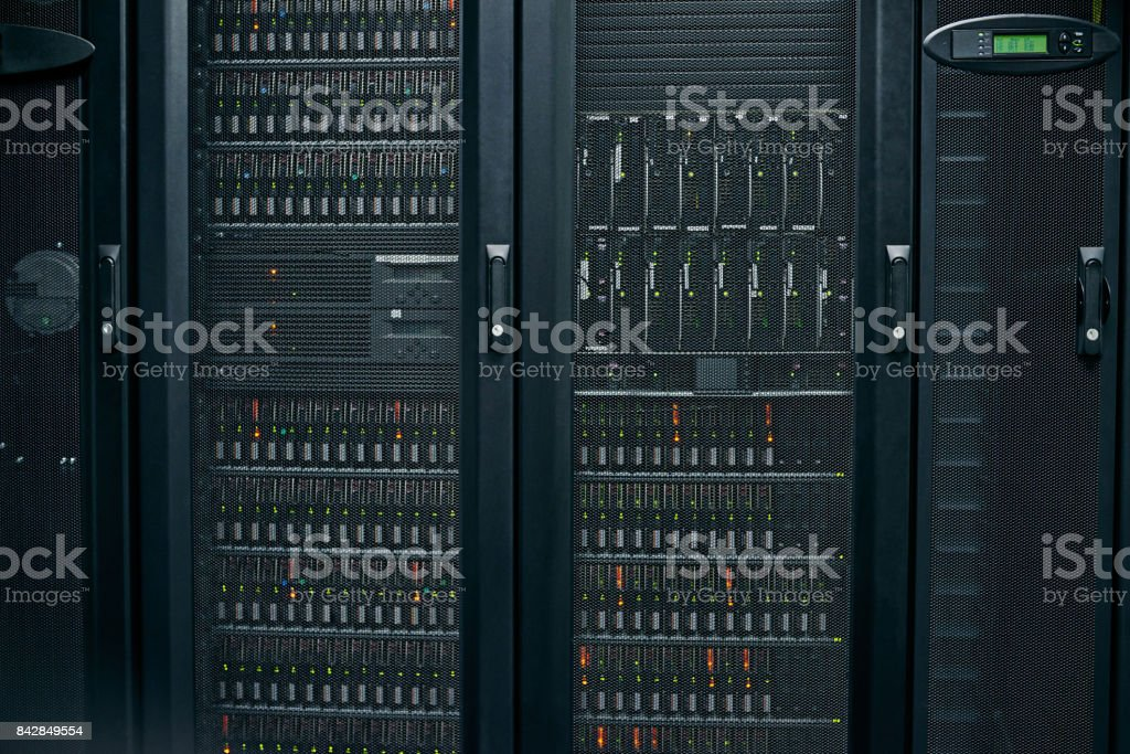 Neat and organized for an efficient computer network stock photo