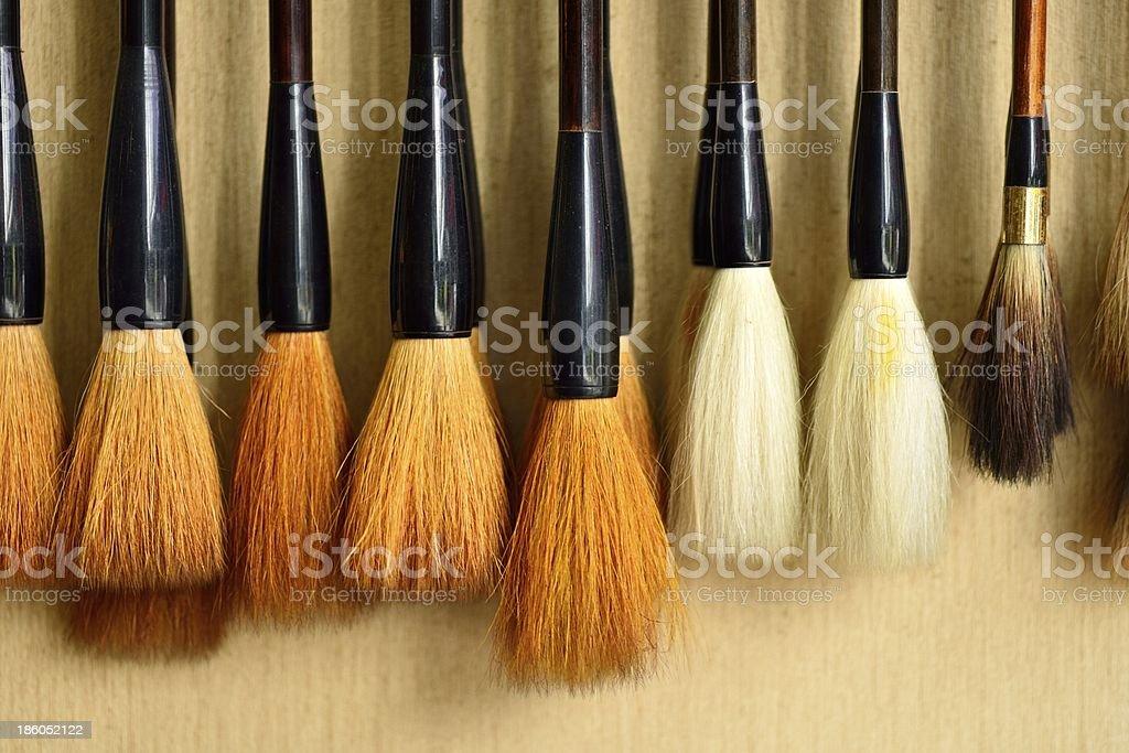 Neat brush royalty-free stock photo