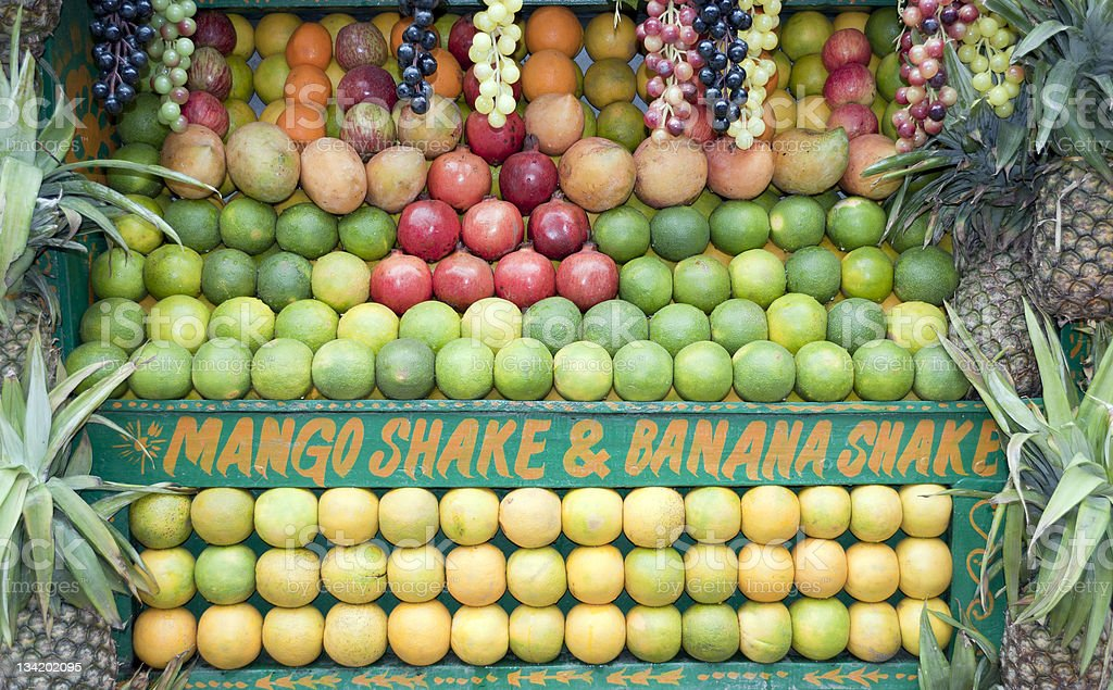 Neatly Arranged Fruit for Sale India royalty-free stock photo