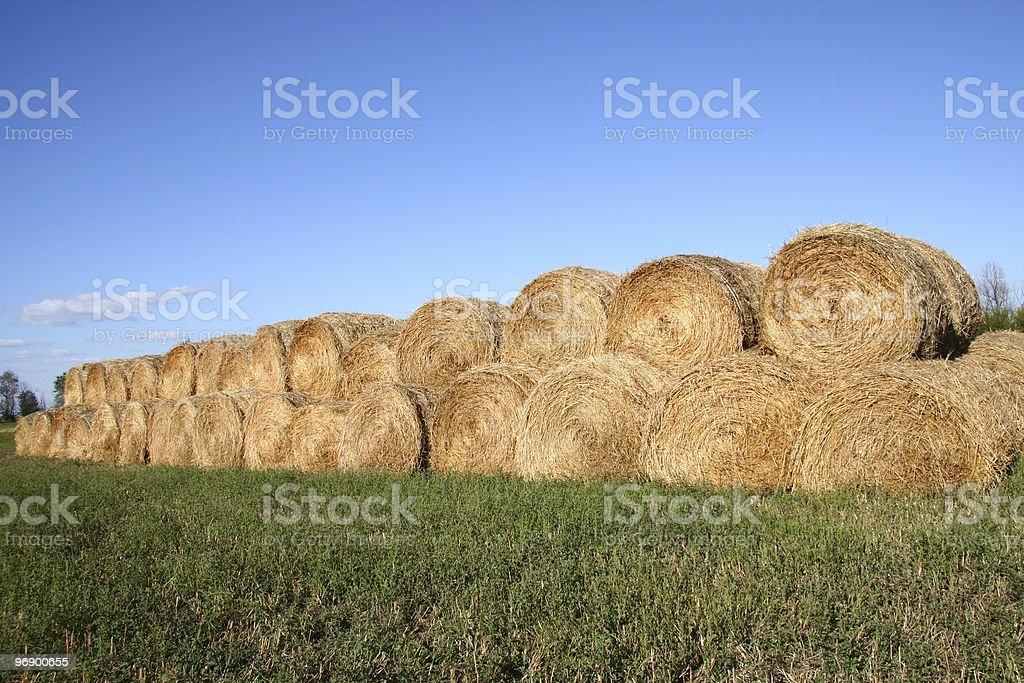 Neatly Piled Bale Pile stock photo
