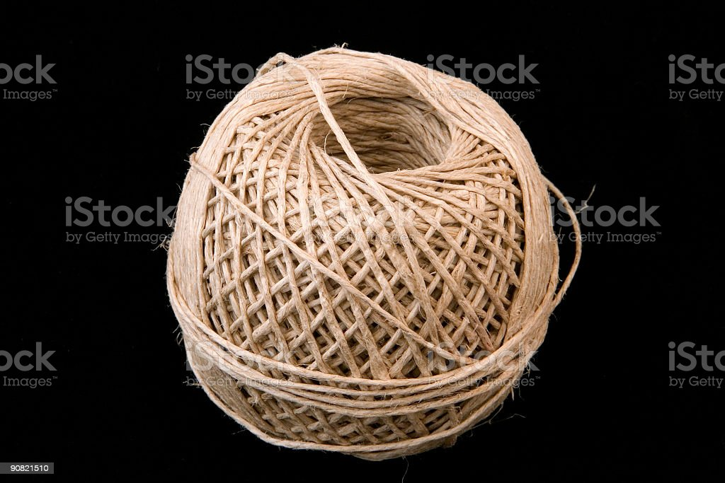 Neatly wound String royalty-free stock photo
