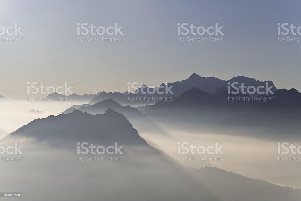 Nebelstimmung royalty-free stock photo