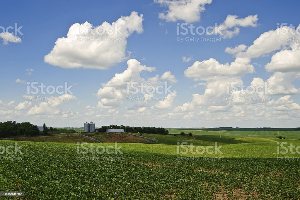 Nebraska Farm stock photo