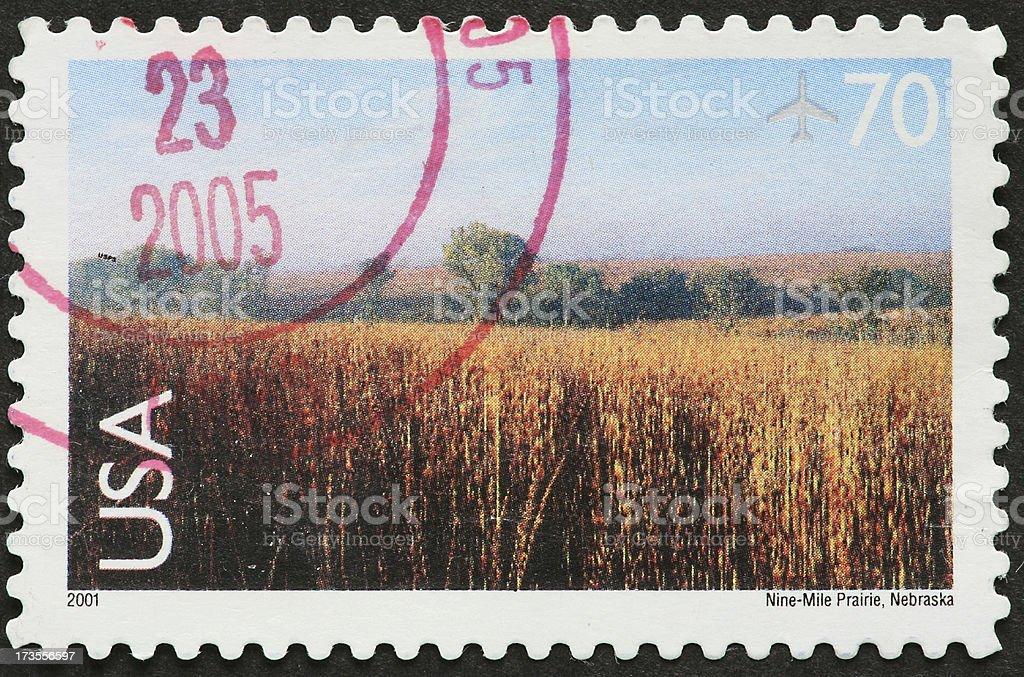 Nebraska prairie royalty-free stock photo