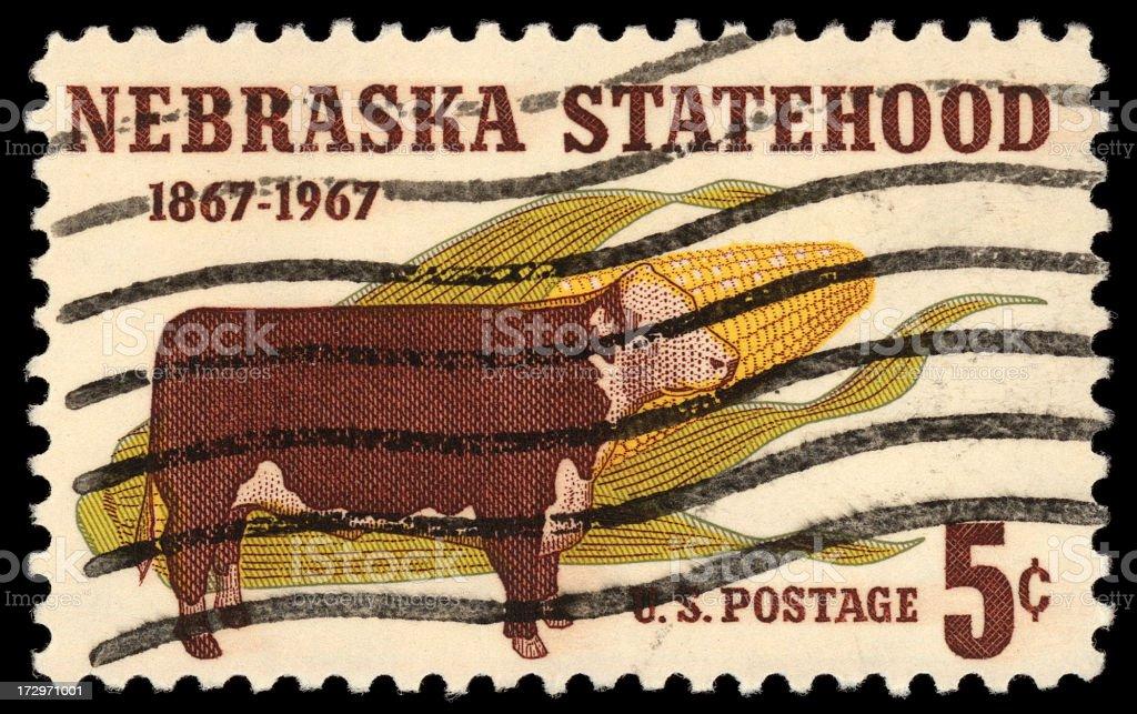 Nebraska stamp stock photo