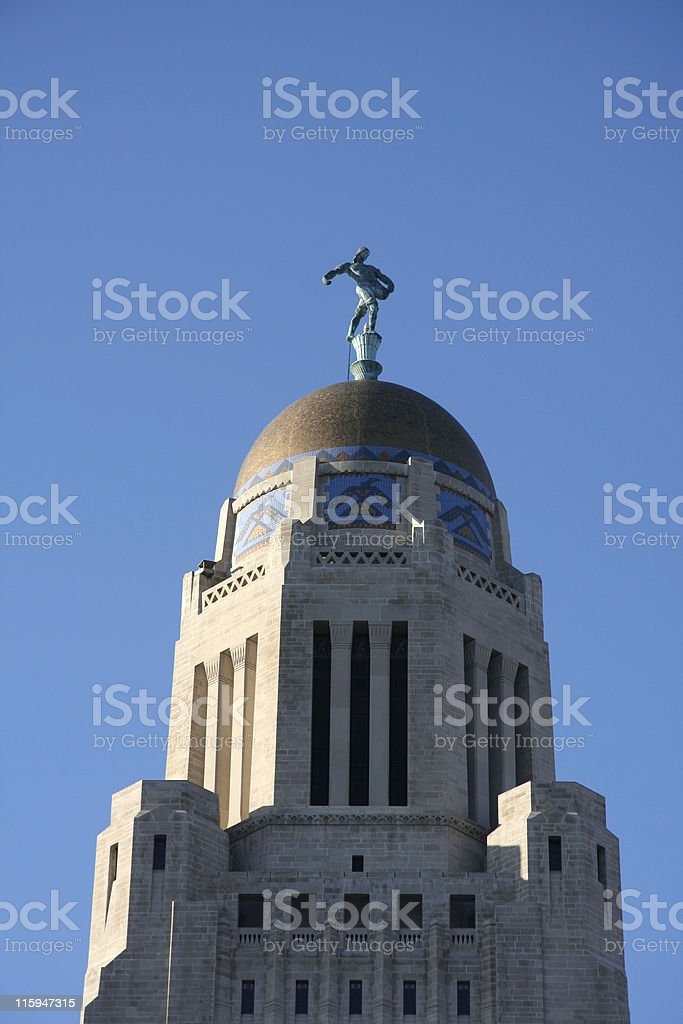 Nebraska State Capital Dome royalty-free stock photo