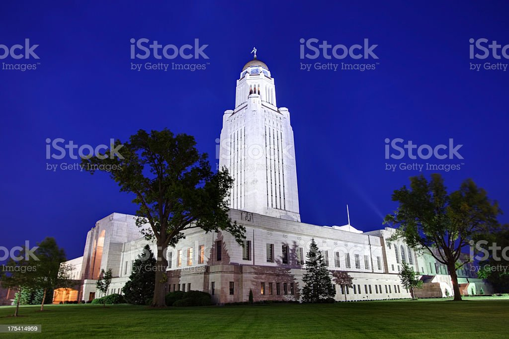 Nebraska State Capitol stock photo
