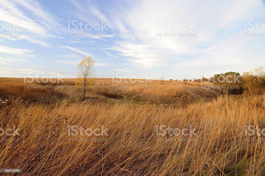 Nebraska Tall Grass Prairie stock photo
