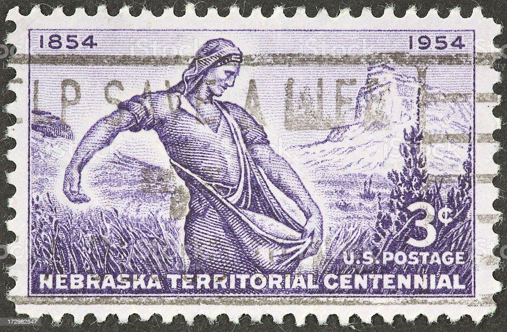 Nebraska Territory royalty-free stock photo
