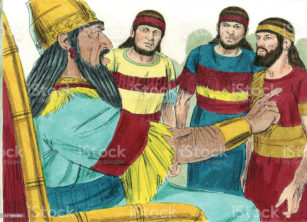 Nebuchadnezzar Becomes Angry royalty-free stock photo
