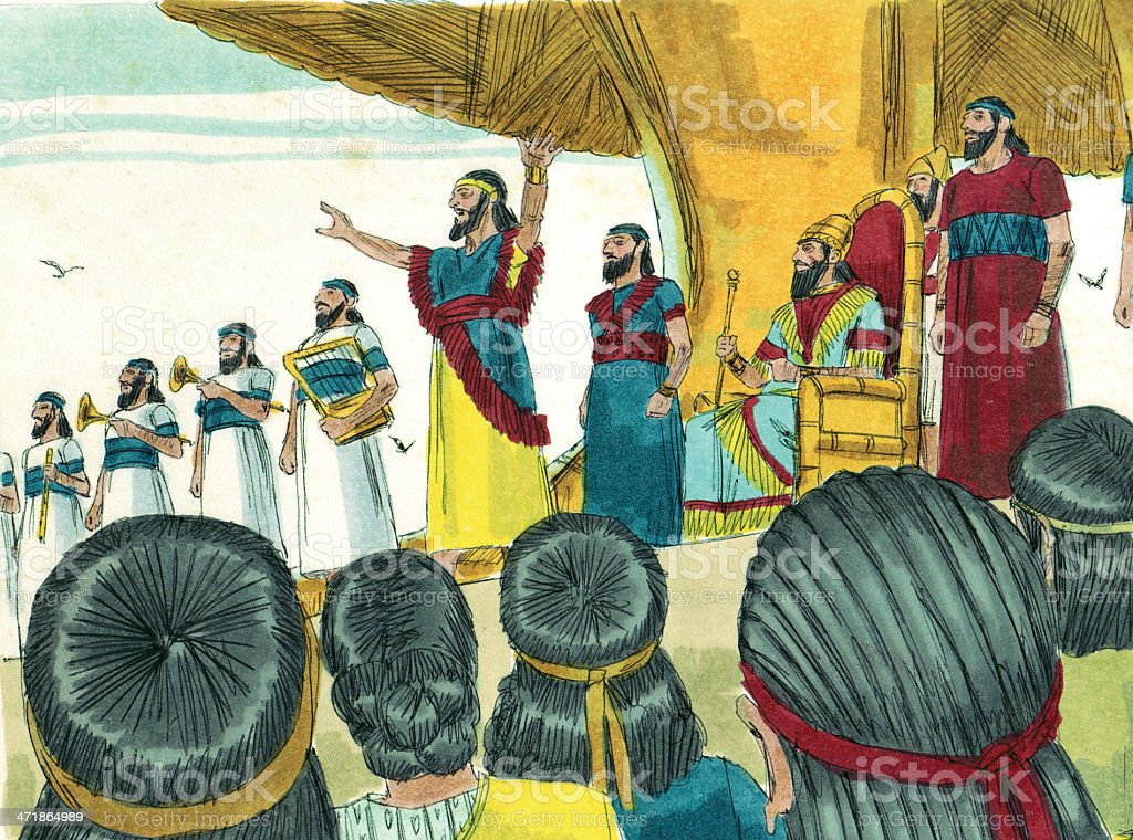 Nebuchadnezzar Orders Idol Worship royalty-free stock photo