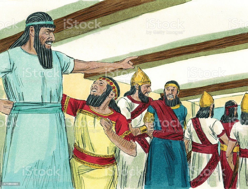 Nebuchadnezzar Orders Magicians Killed royalty-free stock photo