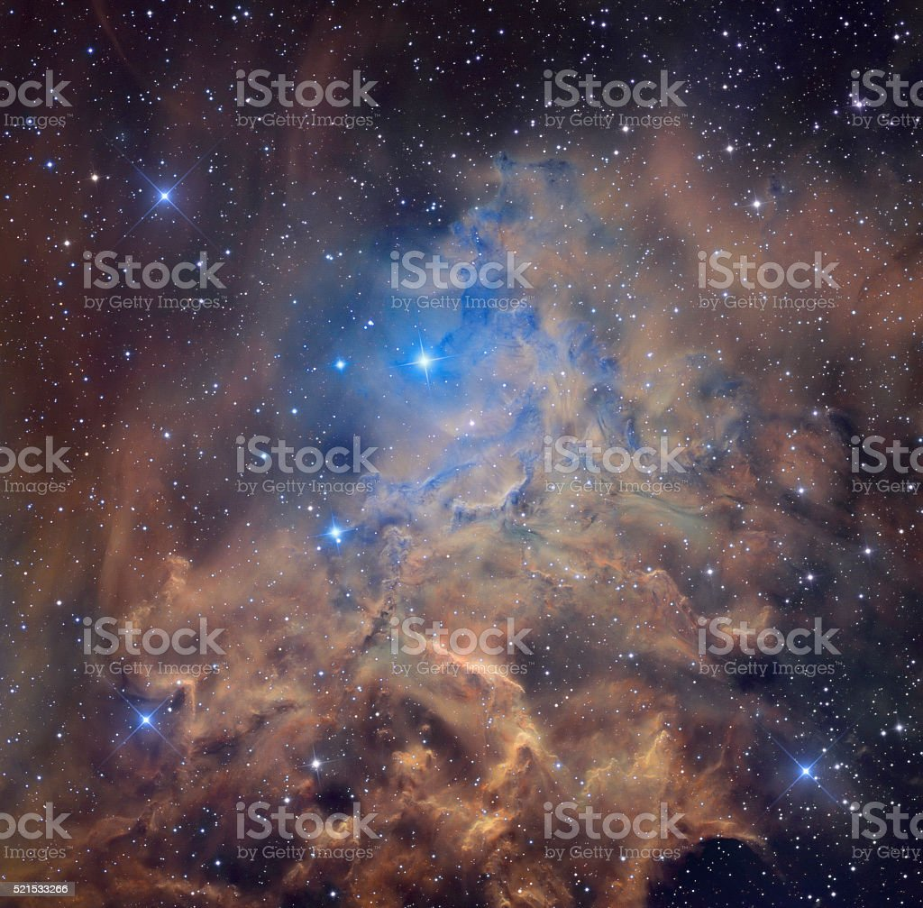 Nebula and stars in cosmic space. Retouched image. stock photo