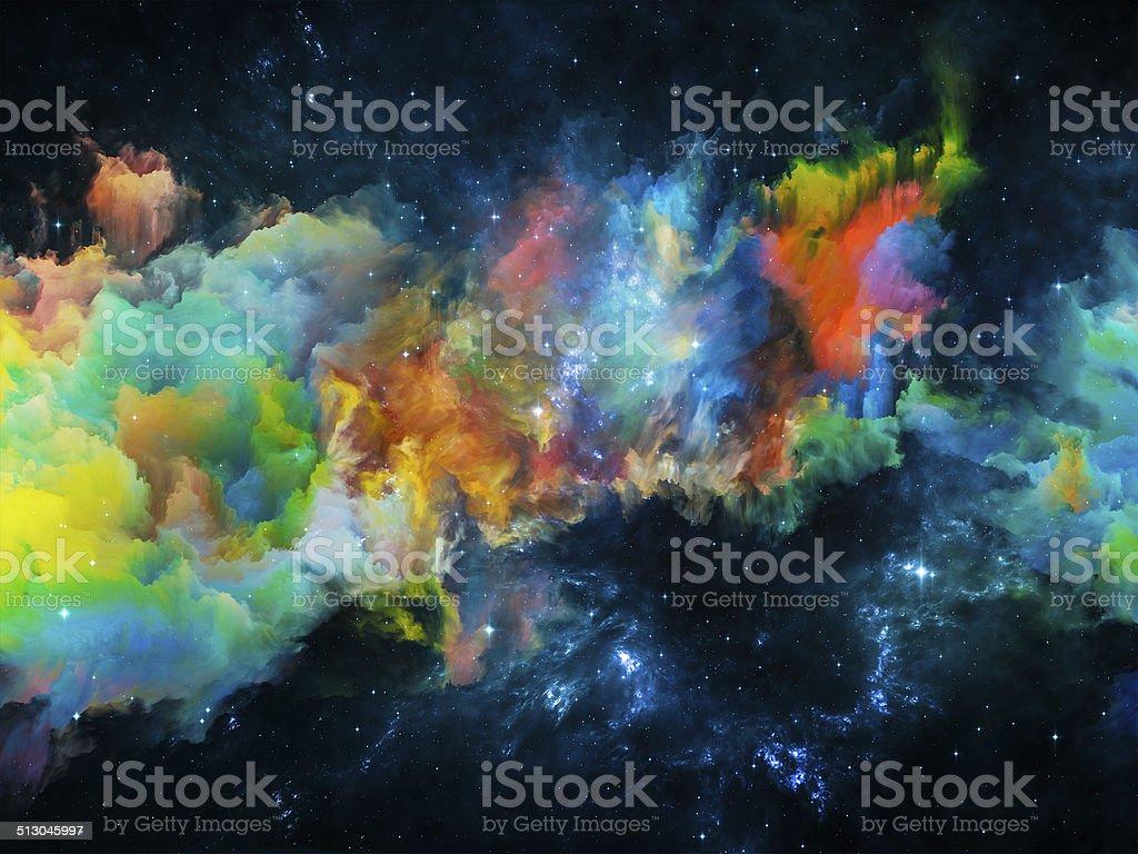 Nebula Composition stock photo