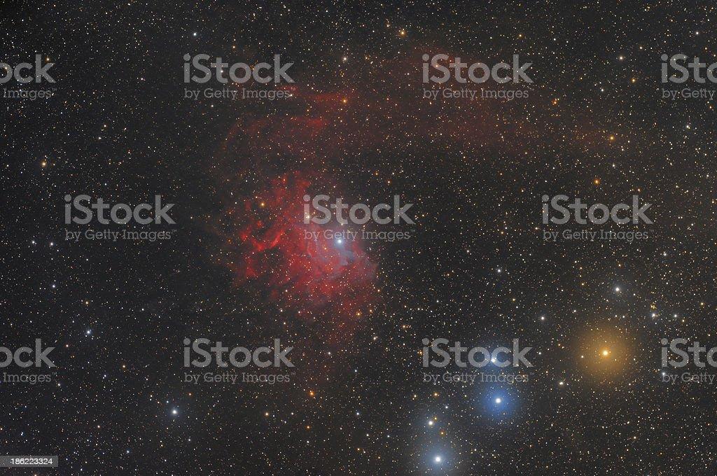 Nebula in Auriga Constellation stock photo