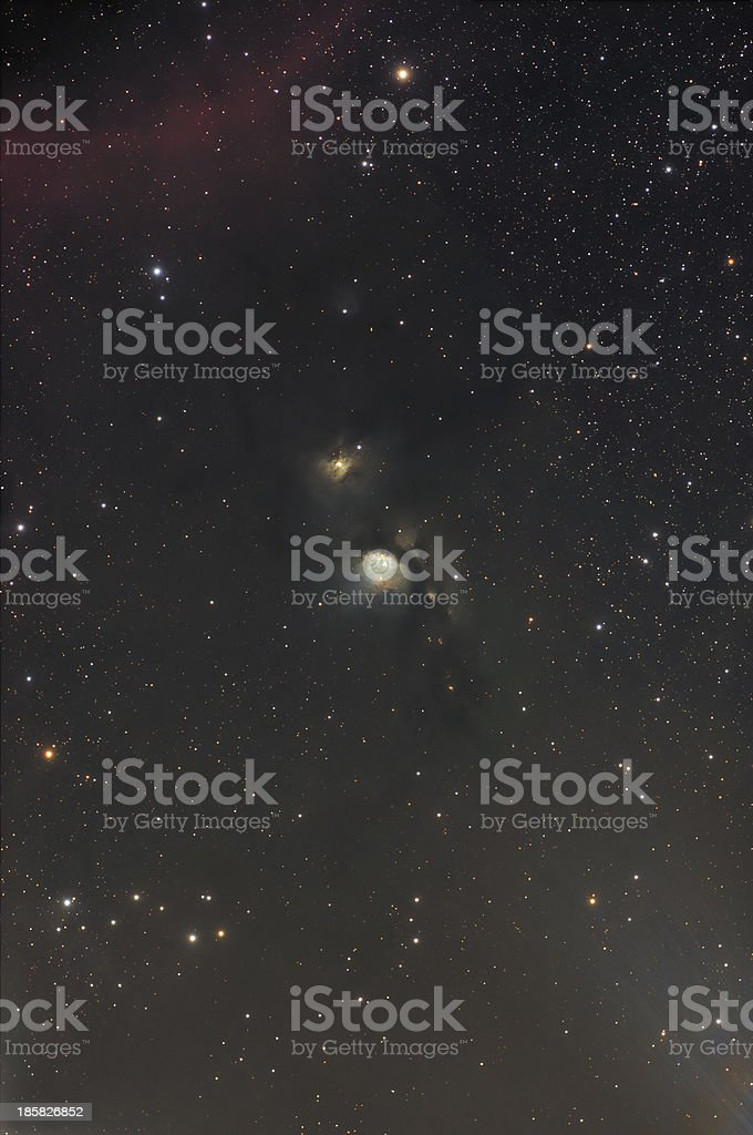 Nebula in Orion Constellation stock photo