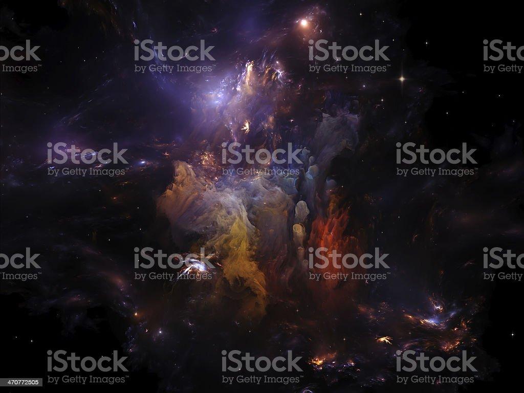 Nebula Meditations royalty-free stock photo