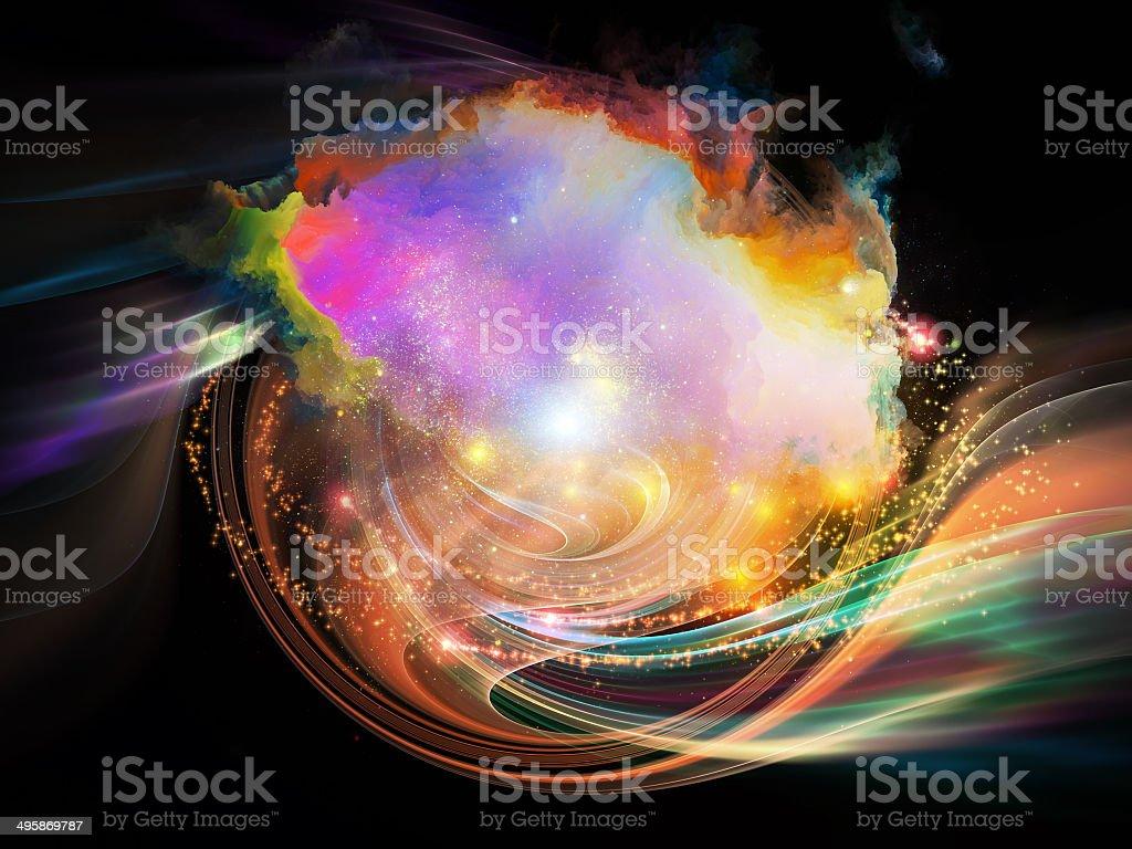 Nebula Vortex stock photo