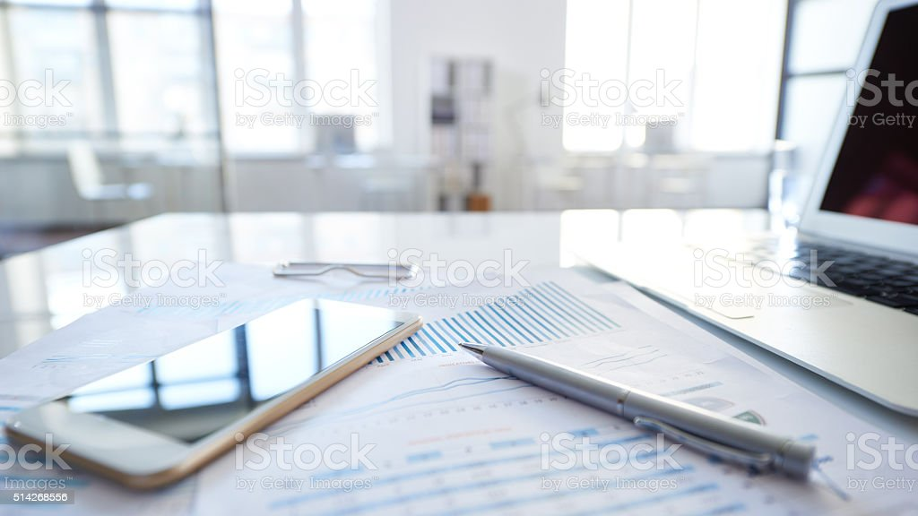 Necessary things for business stock photo
