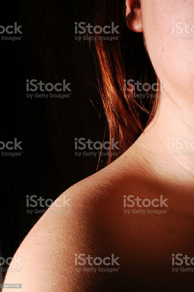 Neck and shoulder royalty-free stock photo