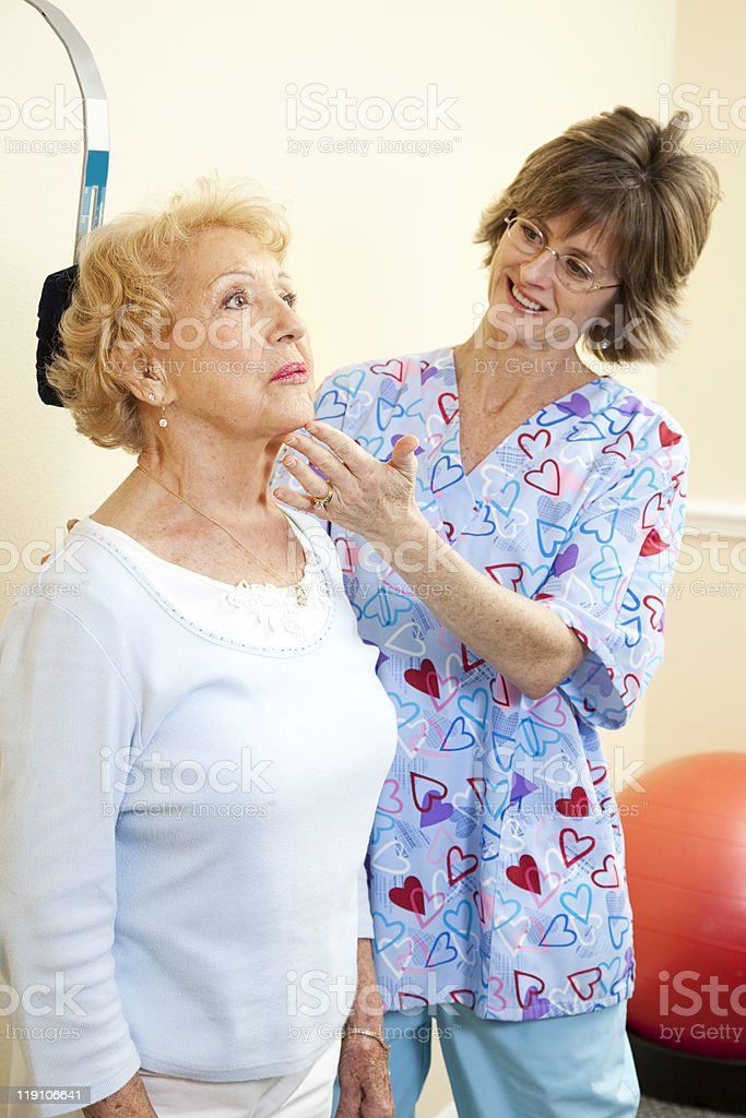 Neck Exercise Therapy royalty-free stock photo