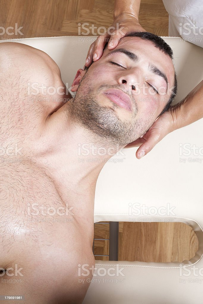Neck manipulation stock photo