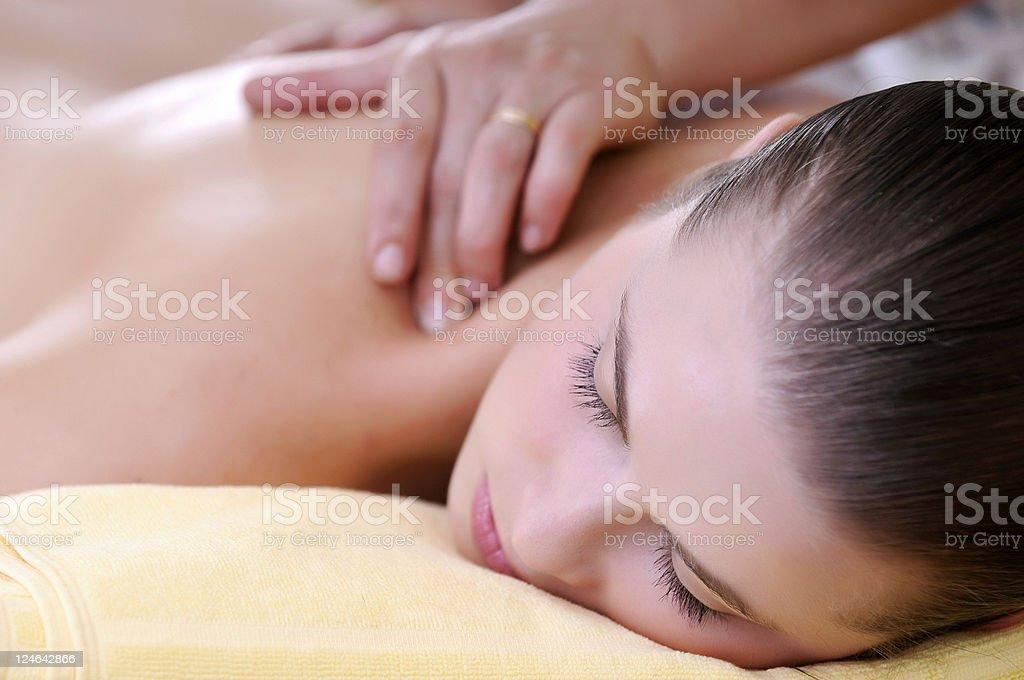 neck massage stock photo