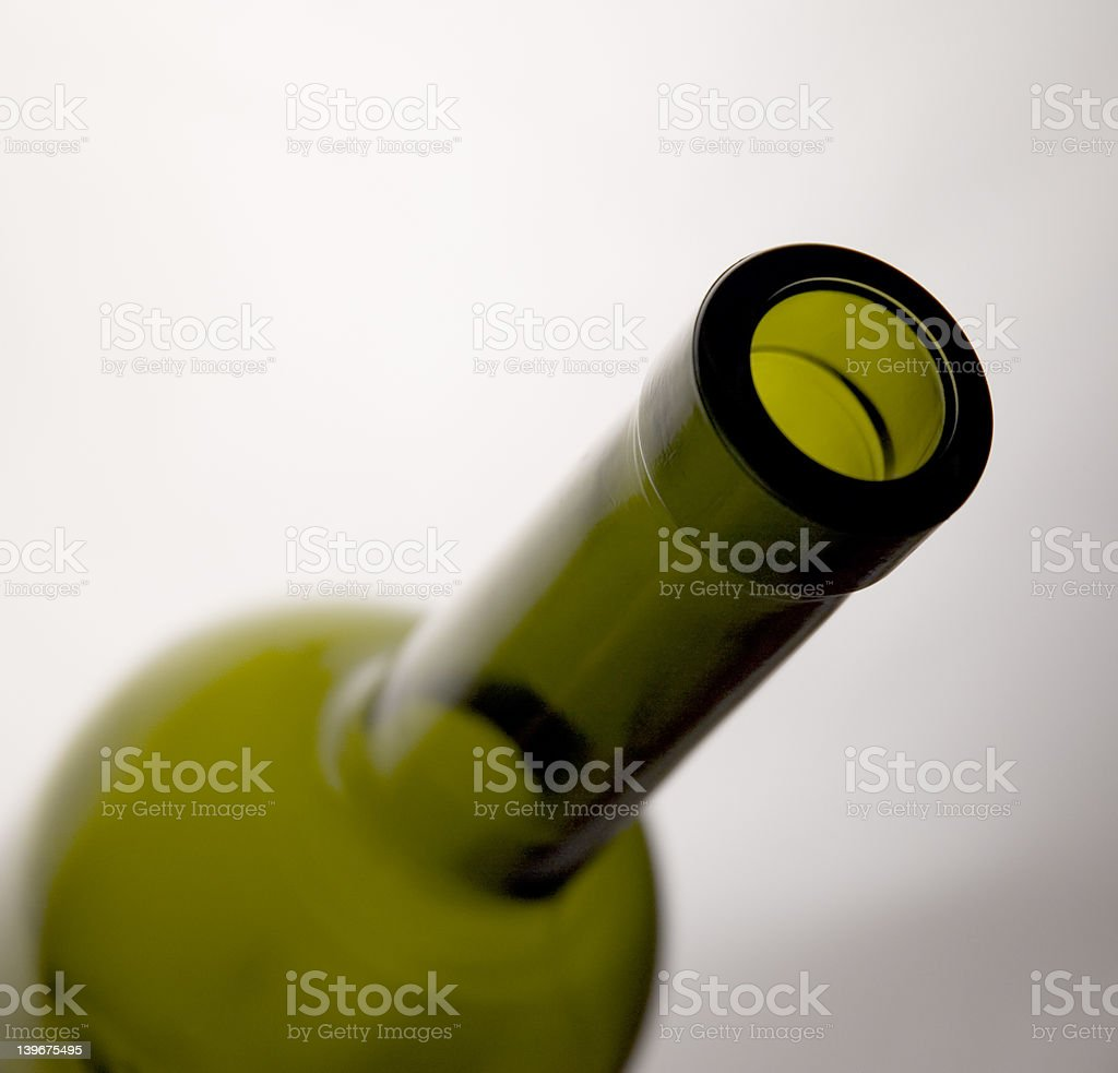 neck of a bottle royalty-free stock photo