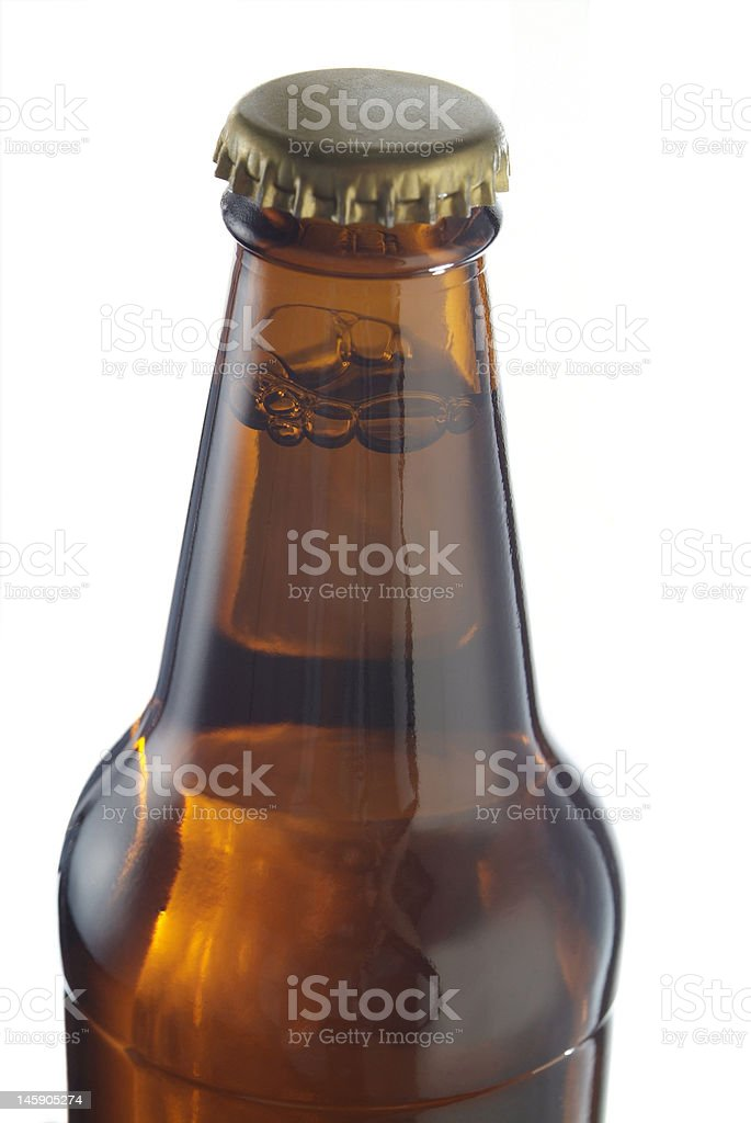 Neck of beer bottle royalty-free stock photo