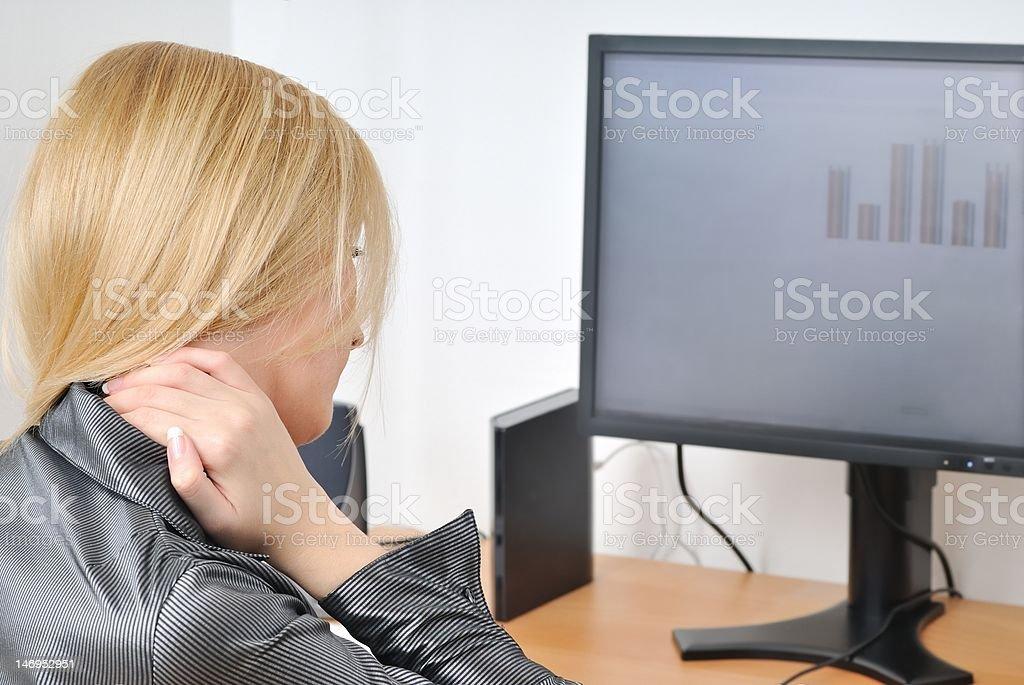 Neck pain royalty-free stock photo