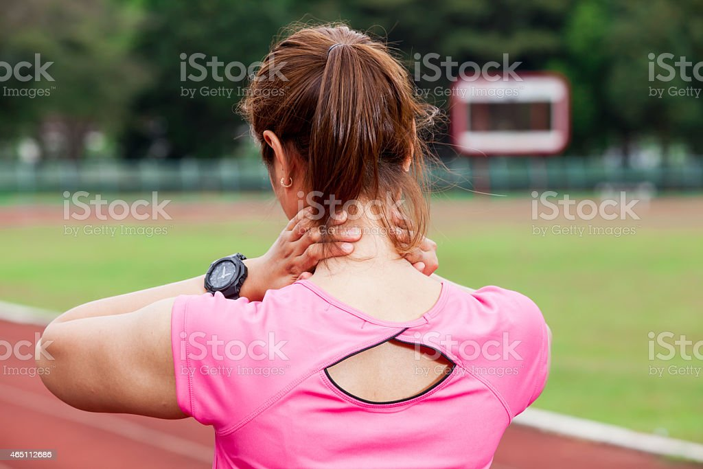 Neck Pain stock photo