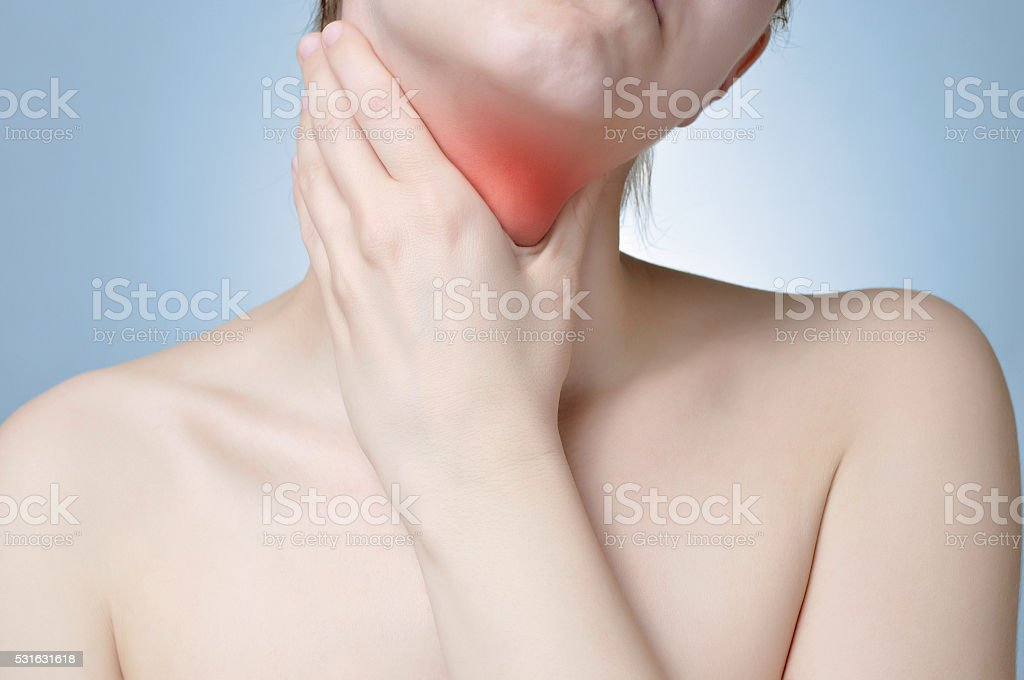 Neck pain stock photo