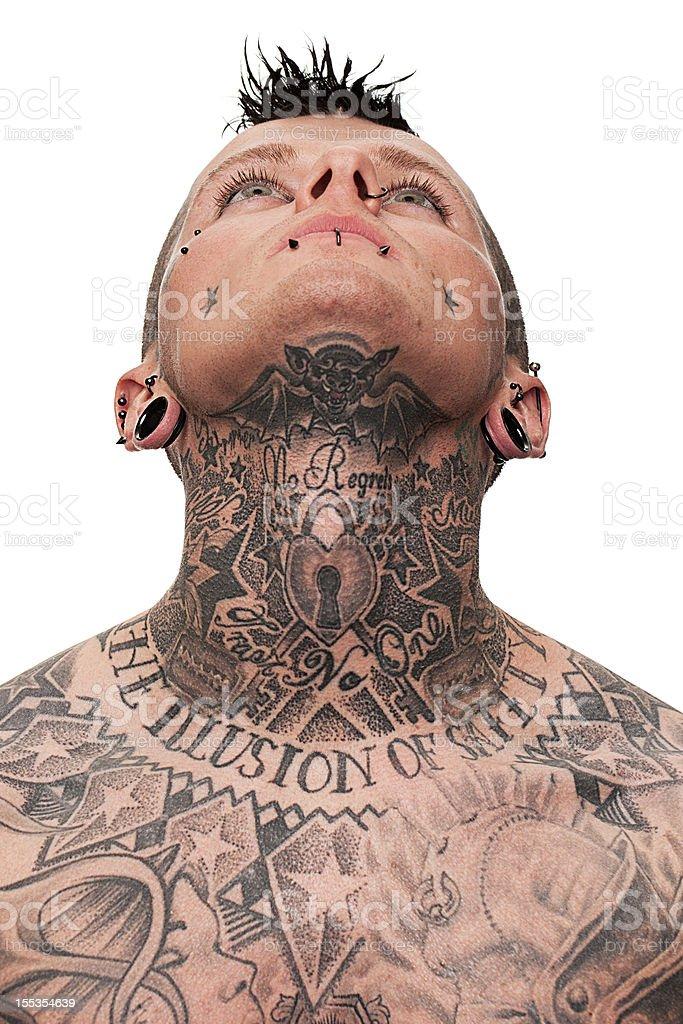 Neck tattoo stock photo