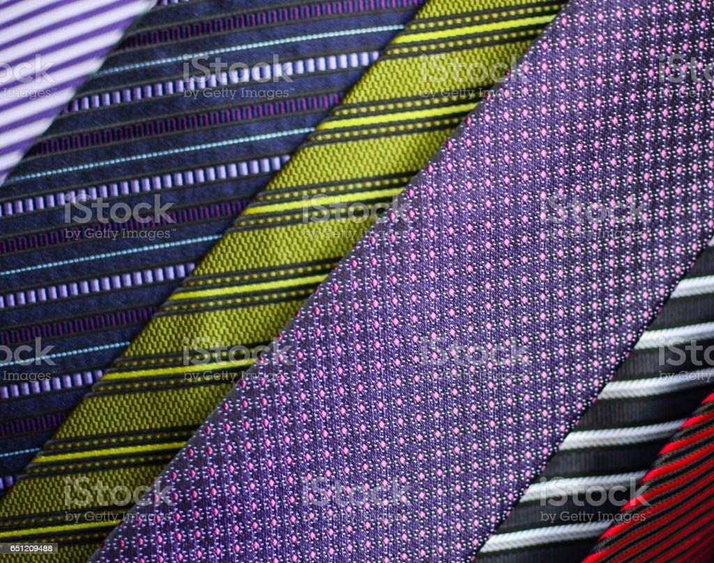 Neck ties macro shot stock photo