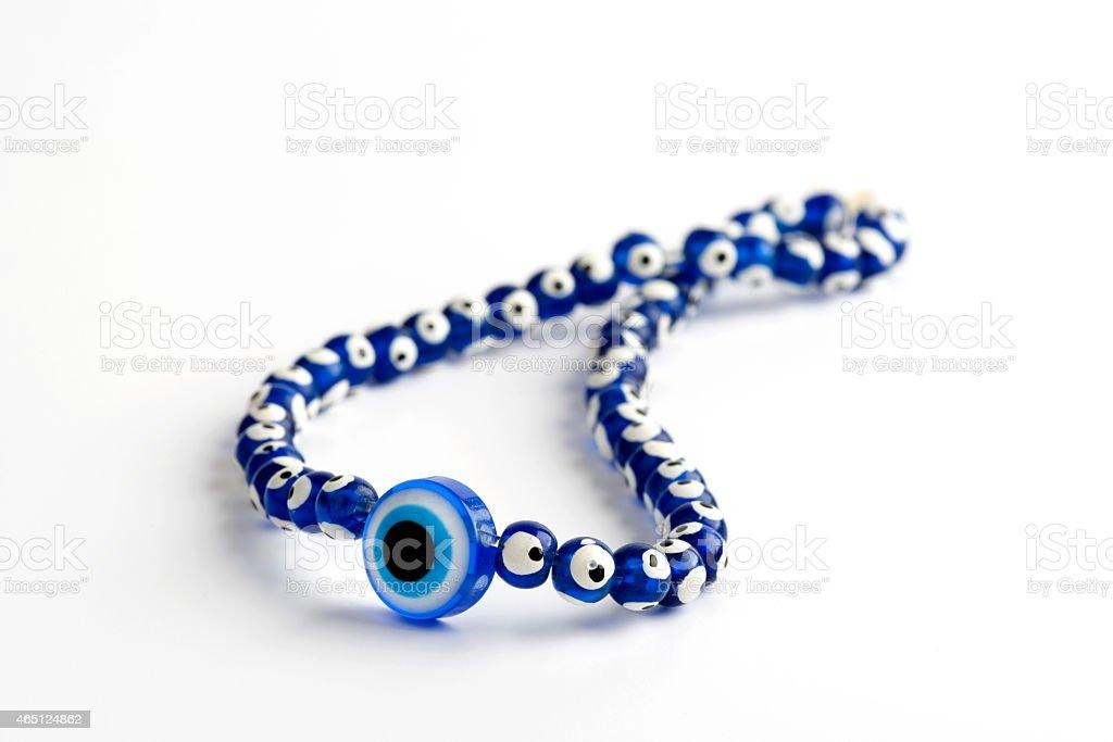 Necklace and pendant Amulet Evil eye Stone of Turkey stock photo