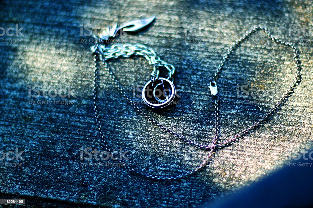 necklace, bracelet and ring stock photo