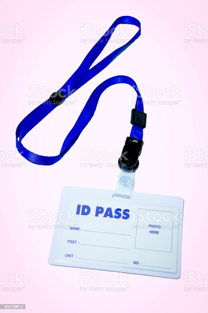 necklace ID Pass stock photo