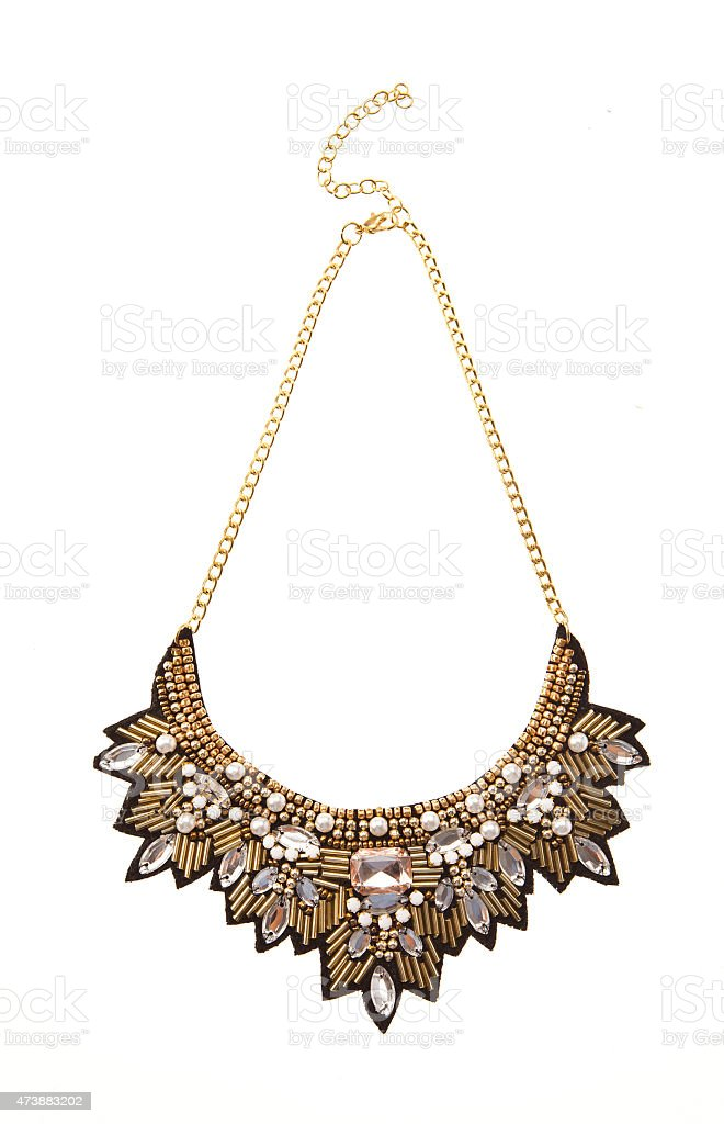 Necklace isolated stock photo