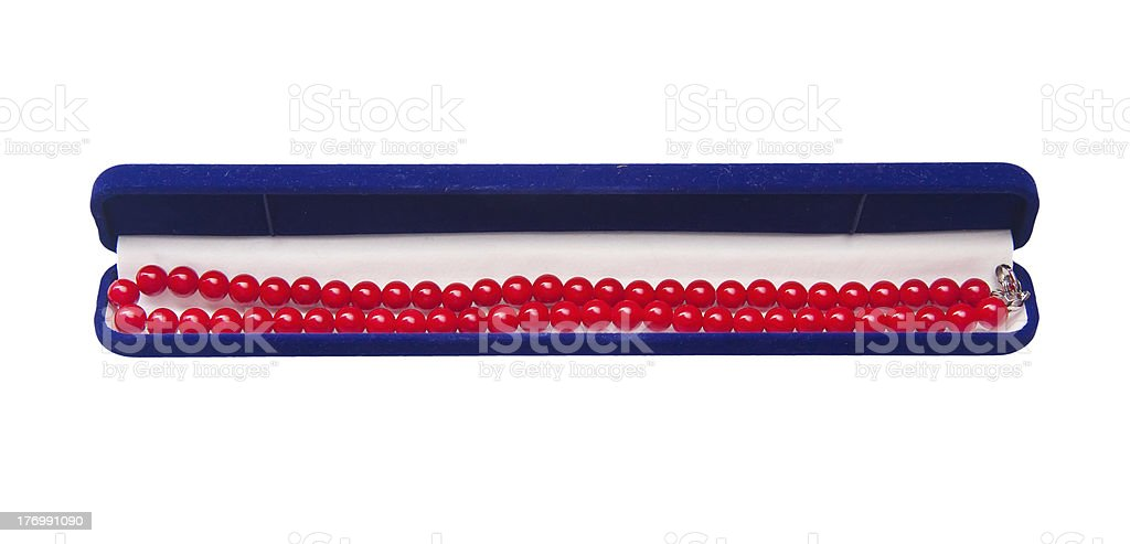 Necklace of red coral royalty-free stock photo