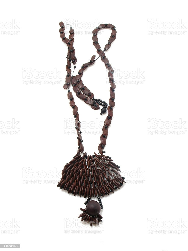 necklace of seeds royalty-free stock photo