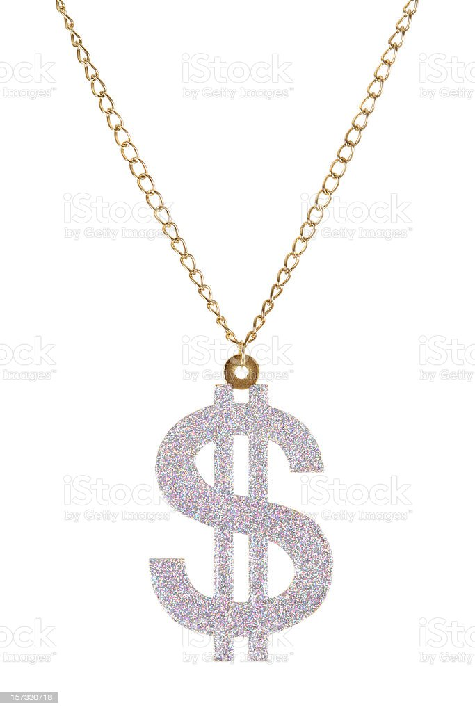 $ Necklace stock photo