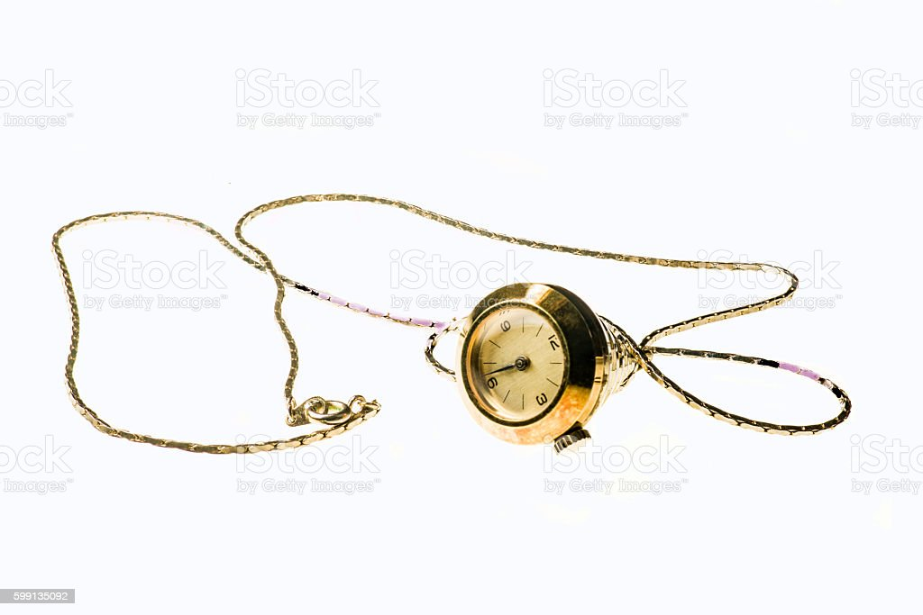 Necklace watch stock photo