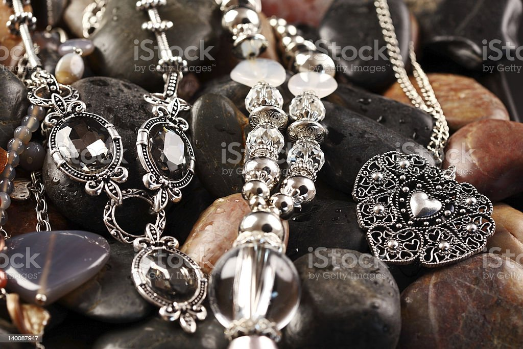 Necklaces and accessories royalty-free stock photo