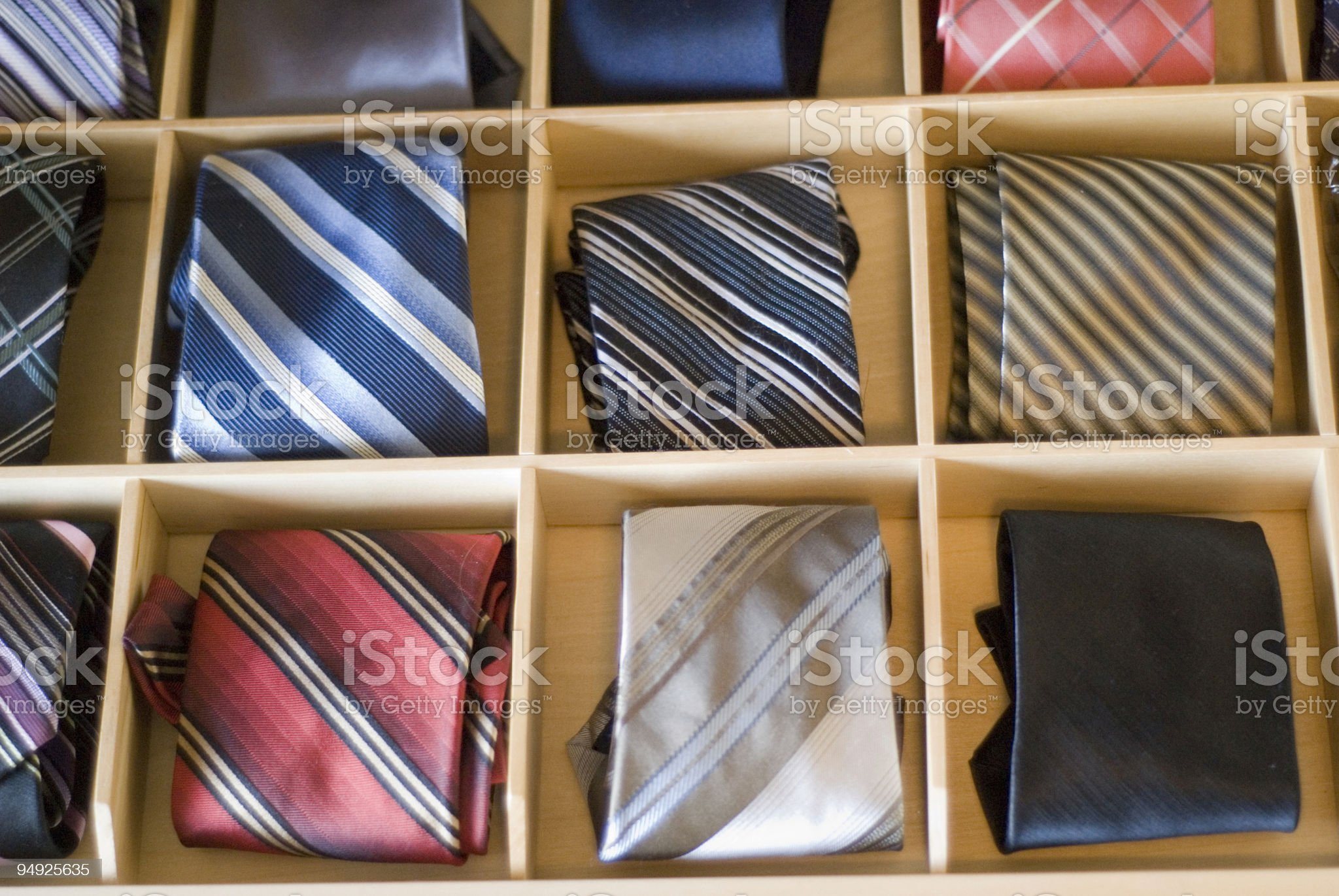 Necktie Drawer royalty-free stock photo